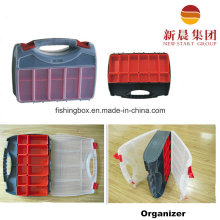 Double Side Red Color PP Organizer Box