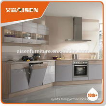 Competitive price factory directly Hangzhou high gloss white lacquer kitchen cabinets