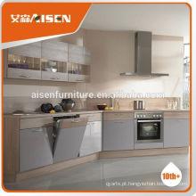 Fábrica de preços competitivos diretamente Hangzhou alto brilho armários de cozinha de laca branca