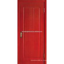 Roble rojo acabado puertas de talla de madera India