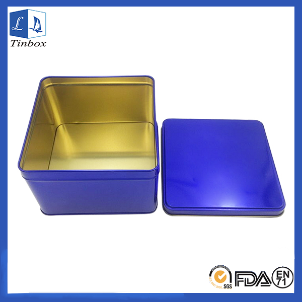 Square Watch Box Packaging With Sapphire Blue
