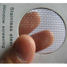 Edelstahl-Fensterabschirmung für Mücken gegen