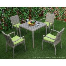 Neuer guter Verkauf im Freien Patio Rattan Wicker Garten Speisen Restaurant Stuhl
