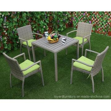 Nueva buena venta al aire libre Patio Rattan mimbre jardín comedor ...