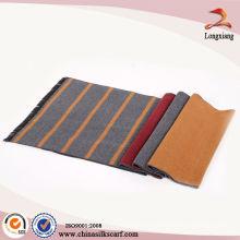 Hot Sale Stripe Venta al por mayor de bufandas de seda italiana, 100 bufandas de seda pura, bufanda de seda personalizada