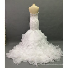 Aoliweiya Brand New Bridal Wedding Dress with Ruffles Pieces