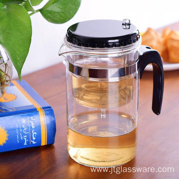 Chinese Convenient Clear Glass Gongfu Teapot