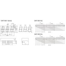 0,56-дюймовый 3-значный 7-сегментный дисплей (GNS-5631Gx-Hx)