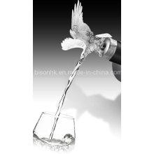 Particular vino accesorio, botella de vino Pourer, cabeza de animal vino Pourer