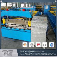 Hochfrequenz-automatische galvanisierte gewellte Stahlbleche Maschine Wellpappe Dachformmaschine