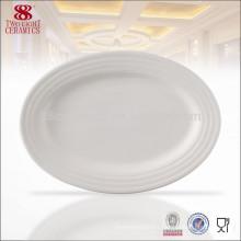 En gros utilisé vaisselle de restaurant, plaque de porcelaine blanche, hôtel utilisé des assiettes