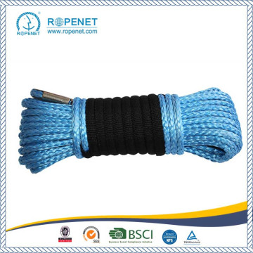 12mm UHMWPE Winch Rope With Blue/Orange Color