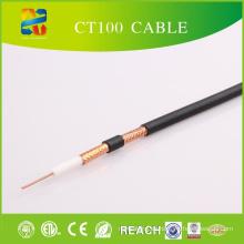 Cable coaxial del cable de cobre CT100 con la chaqueta del PVC