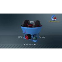 JXSC Hot Sale 0.5TPH Sudan Rock Gold Grinding Machine Wet Pan Mill 1200B