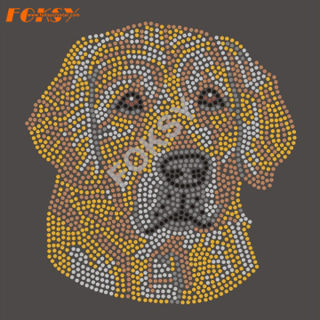 Hermosa Crystal Dog Rhinestone Heat Transfer Designs