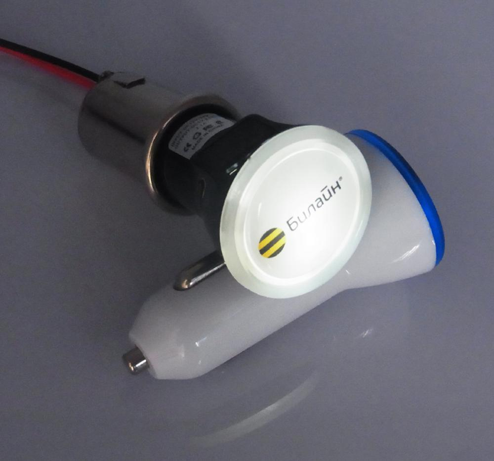 Promotional Imprinted Bright Car Charger Round Shape (3)