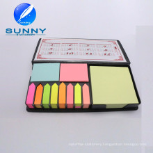 PU Leather Case Sticky Note with Calendar