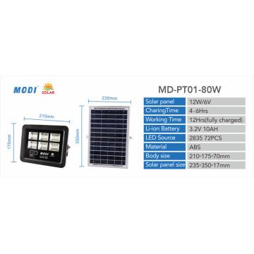 Projecteurs solaires 80W