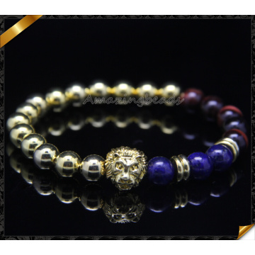 Beads Charms Bracelets, Round Gold Beaded Bracelets Wholesale (CB0104)
