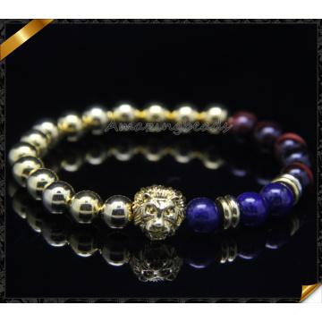 Beads encantos pulseiras, redondo ouro frisado pulseiras atacado (CB0104)