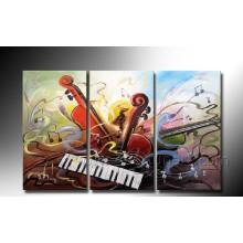 Handgemachtes Wand-Bild Musik-abstraktes Kunst-Klavier-Ölgemälde auf Segeltuch (XD3-203)