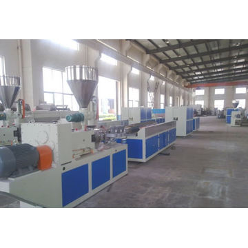 Wood floor panel making machine