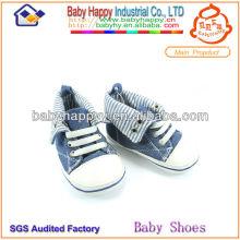 Latest design fashionable baby denim shoes