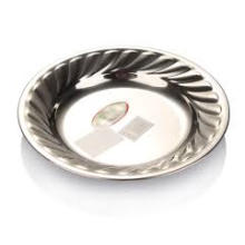 Plaque ronde en acier inoxydable à fleurs non magnétiques