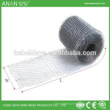 Pequeno furo expandido metal diamante segurança malha de bobina de drywall