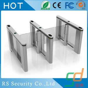 Fingerprint Residential RFID Glass Turnstile Door