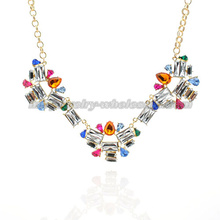 Anweisung Party Crystal Stone Anhänger Halskette