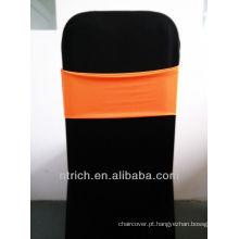 cadeira do casamento faixas, linda banda de elastano, Lycra banda, laranja