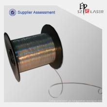 0.7 mm prata holográfico fios para tricô em roupas