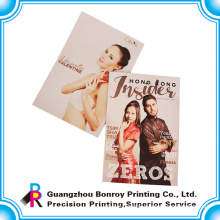high quality advertising magazine printing with perfect binding