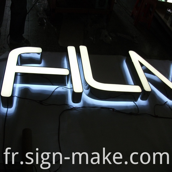 front and reverse lit letters