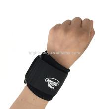 Deportes Neopreno elástica de apoyo / Wrist Wrap / Brazalete de muñeca en negro