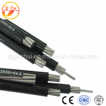 0.6/1 Kv LV Aerial Bundled Cable 3 Core Phase 50mm2 AAC 50mm2 Bare AAAC Messenger