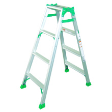 A Shaped Aluminum Ladder with Wide Steps