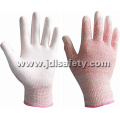Pink Cut Resistant Work Glove with PU (PD8015P)