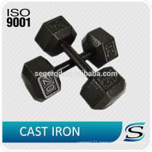 Hex cast iron dumbbell lb