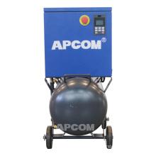 Low noise APCOM 0.5m3/min 8bar air tank 4kw screw air compressor 220v