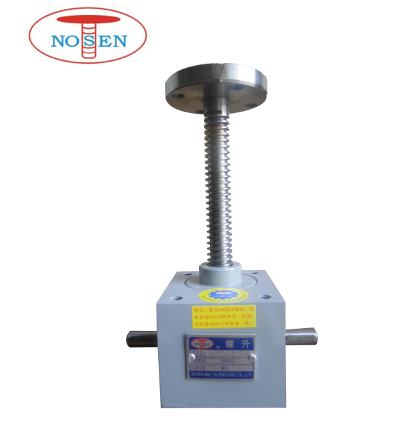 Small heavy duty machine screw jack for 10KN load
