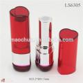 Red de plata en forma de corazón tubo de lápiz labial de embalaje al por mayor