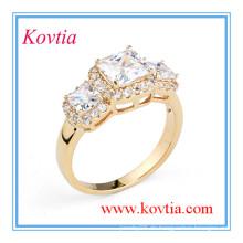 Frauen Zirconia Bijoux neuesten Hochzeit Ring Designs