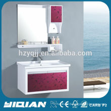 Wall Mounted Ceramic Basin Modern Style PVC Bathroom Sanitary Ware Sets