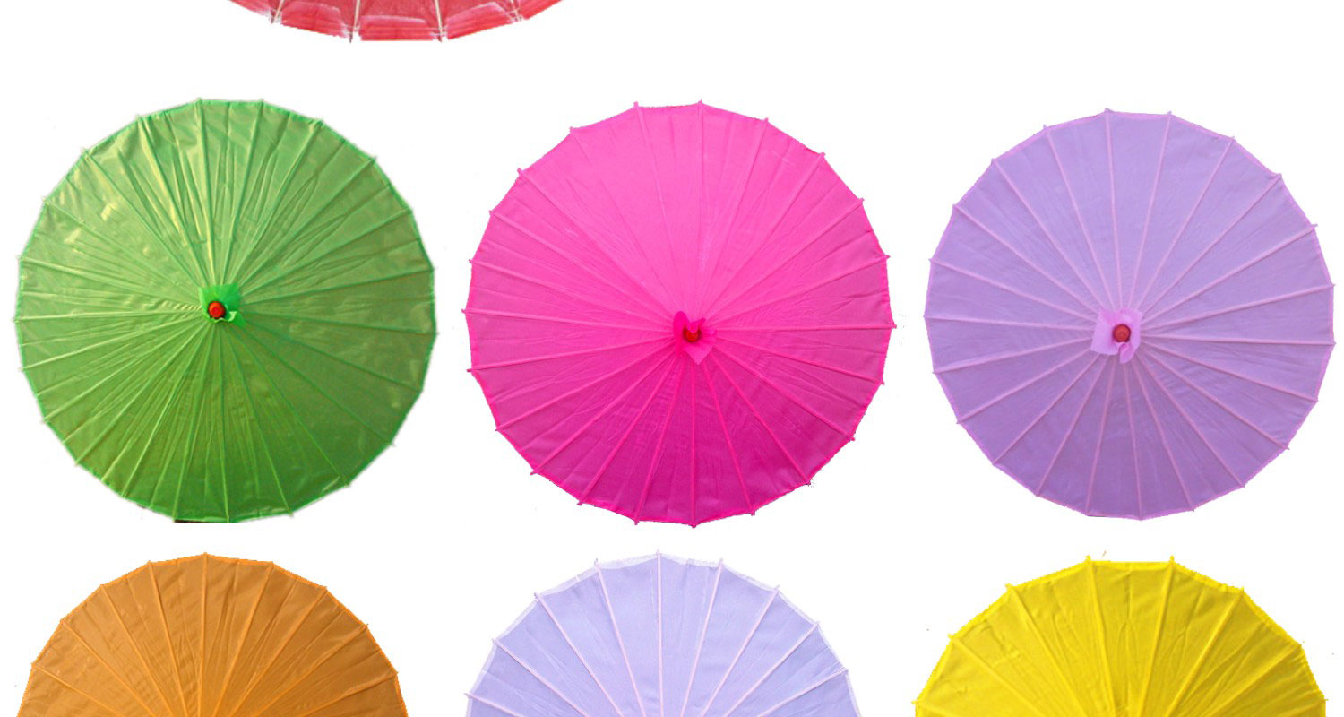 Fancy Colorful Paper Wedding Craft Umbrella different color