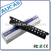19inch Acero 1U red decorativa 12 puertos de gestión de cables retráctiles para la clasificación de cable de conexión