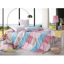 Various printed bed sheet 100% cotton pillowcase duvet cover set
