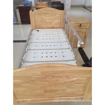 Cama de hospital doble eléctrica eléctrica de madera