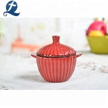 Colorful Large Capacity Kitchen Ceramic Casserole Soup Hot Pot With Lid